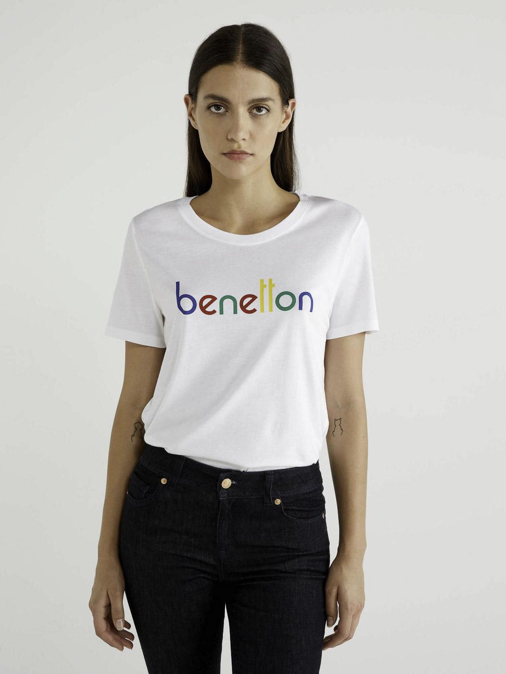 BENETTON T-shirt κοντομάνικο με λογότυπο 3P1ZE17G4 20A902