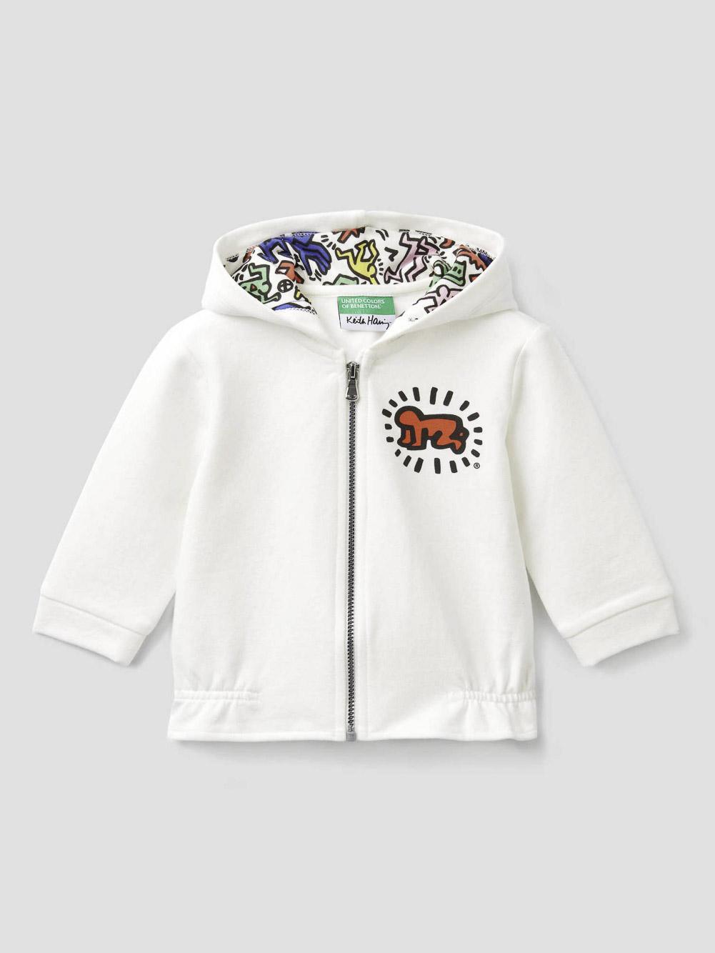 "012 BENETTON Φούτερ με τυπώματα ""Keith Haring"" 3PNMC5868 20A074"