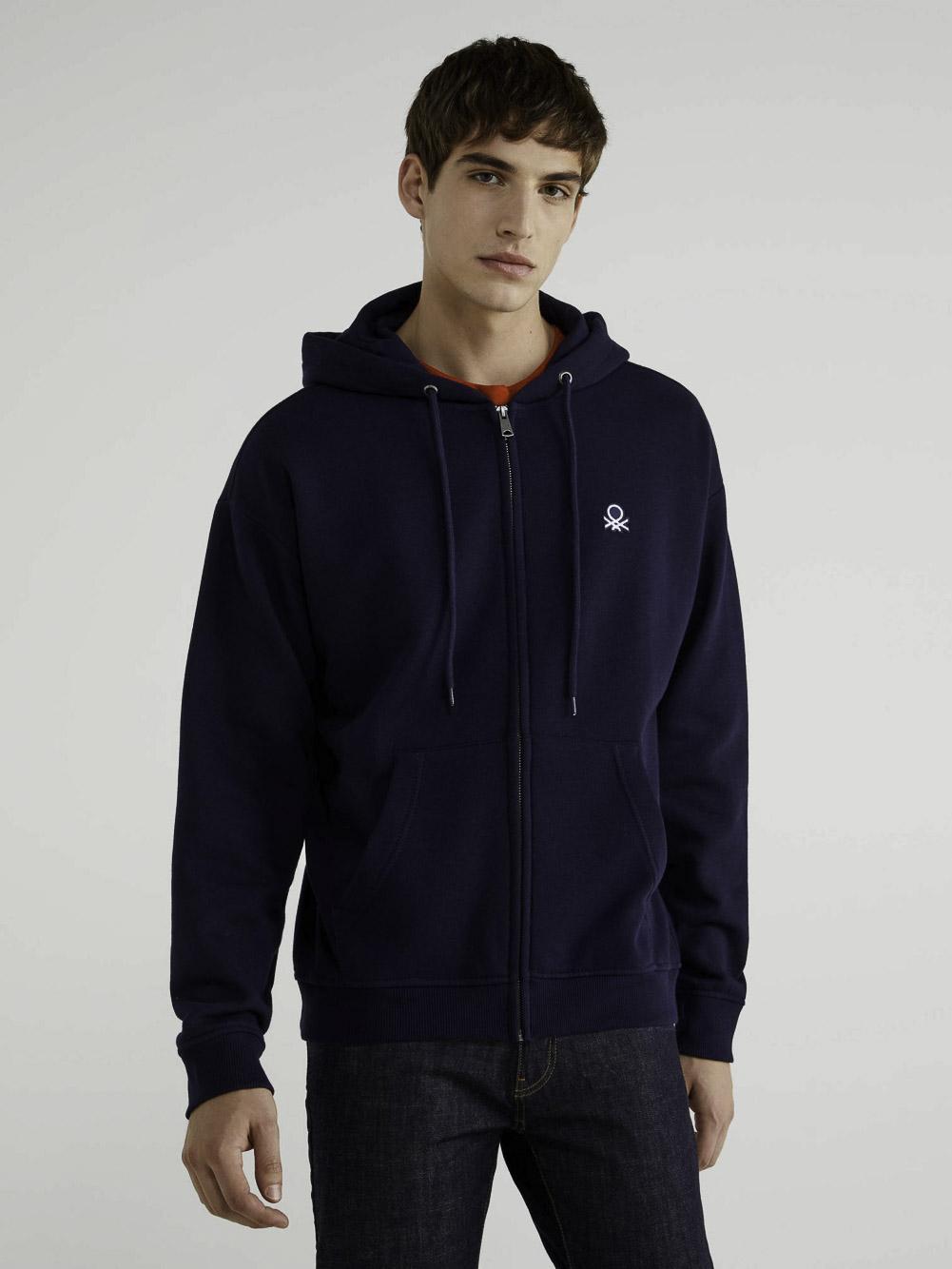 BENETTON Φούτερ με τσέπες και κουκούλα 3J73J5217 20A016