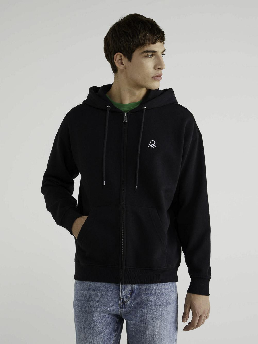 BENETTON Φούτερ με τσέπες και κουκούλα 3J73J5217 20A100