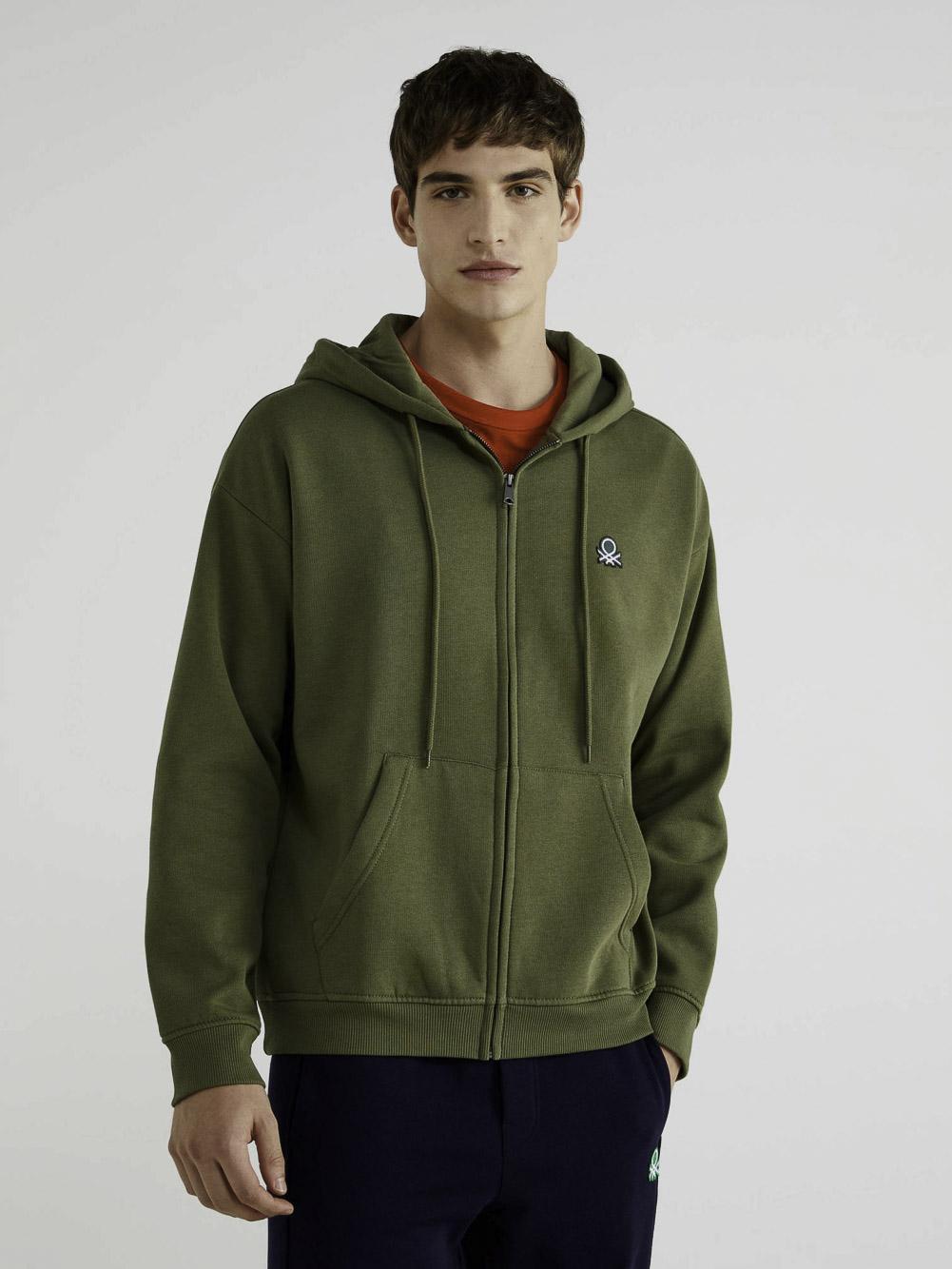 BENETTON Φούτερ με τσέπες και κουκούλα 3J73J5217 20A22Y