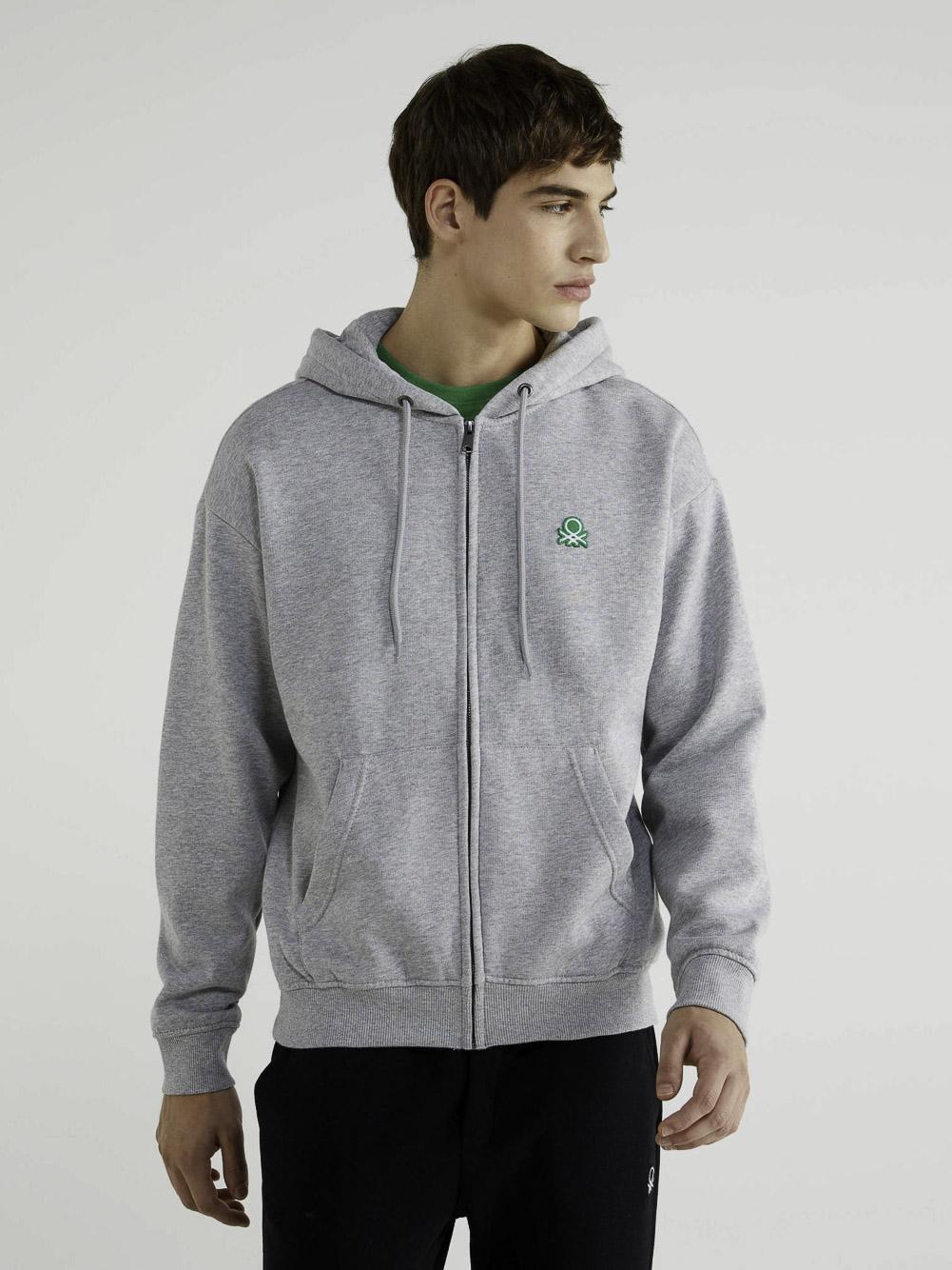 BENETTON Φούτερ με τσέπες και κουκούλα 3J73J5217 20A501