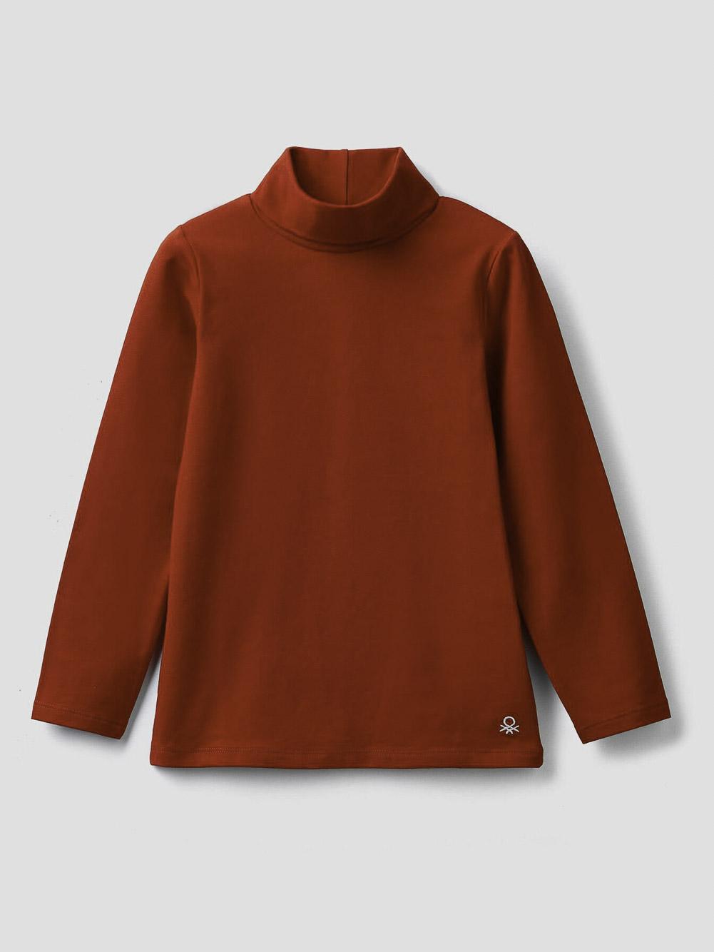 012 BENETTON T-shirt με γιακά ζιβάγκο 3P4ZC2193 20A015