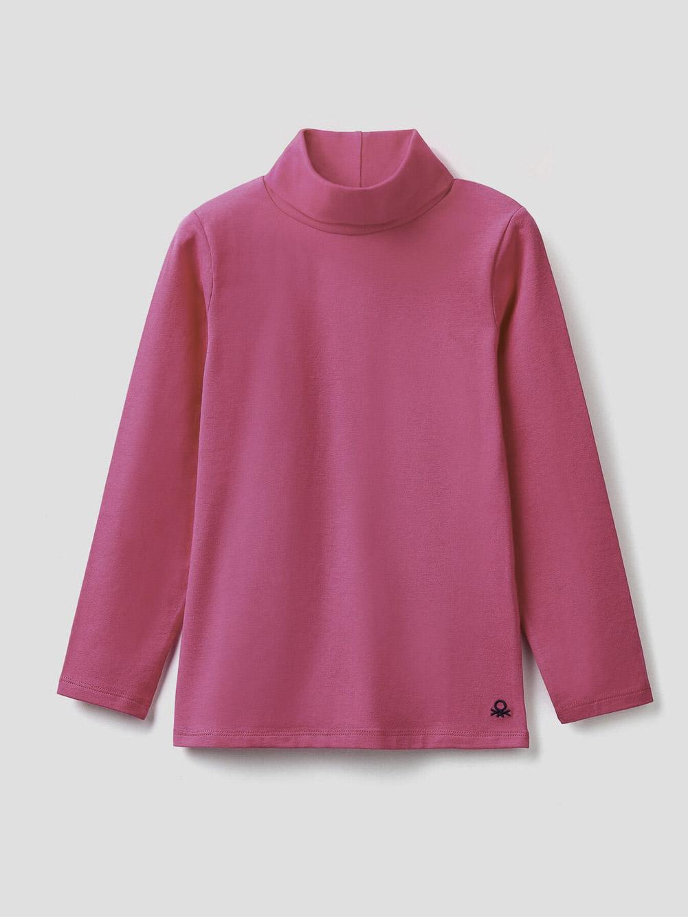 012 BENETTON T-shirt με γιακά ζιβάγκο 3P4ZC2193 20A02A