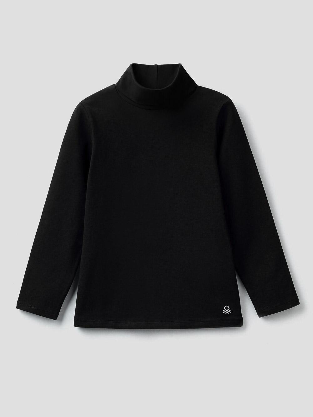 012 BENETTON T-shirt με γιακά ζιβάγκο 3P4ZC2193 20A100