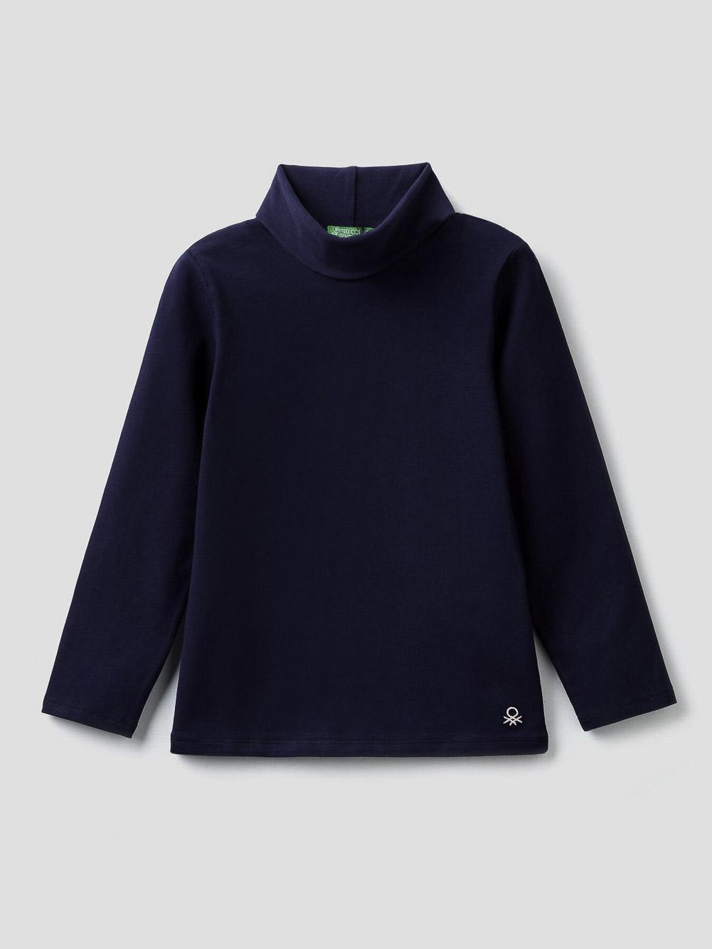 012 BENETTON T-shirt με γιακά ζιβάγκο 3P4ZC2193-20A252 20A252