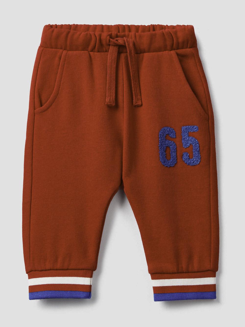 012 BENETTON Παντελόνι με κορδόνι και κέντημα 3J73I0164 20A015