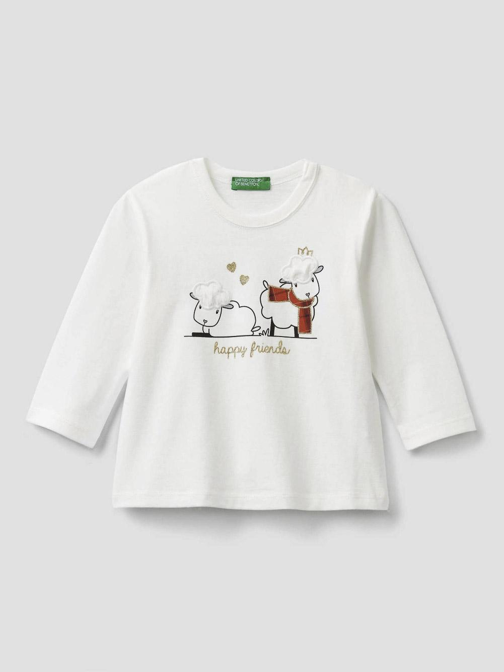 012 BENETTON T-shirt με τύπωμα 3VR5C14TZ 20A074