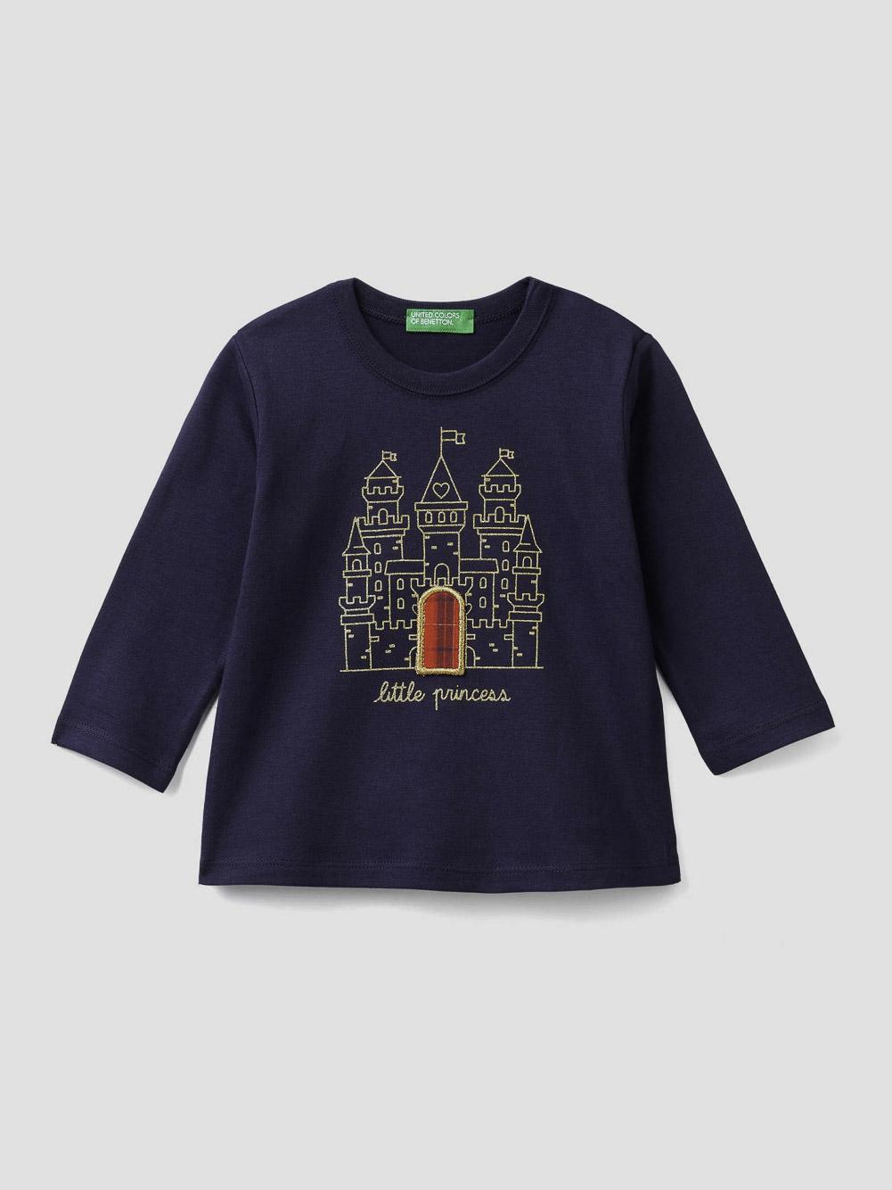 012 BENETTON T-shirt με τύπωμα 3VR5C14TZ 20A252