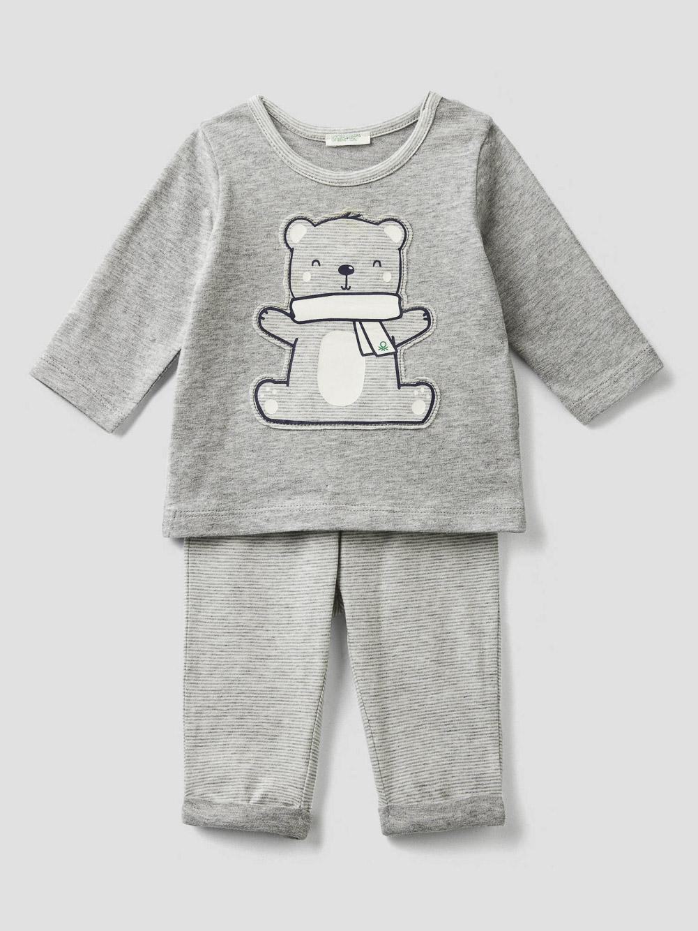 012 BENETTON Σύνολο t-shirt και παντελόνι 3ZK6MM277 20A901