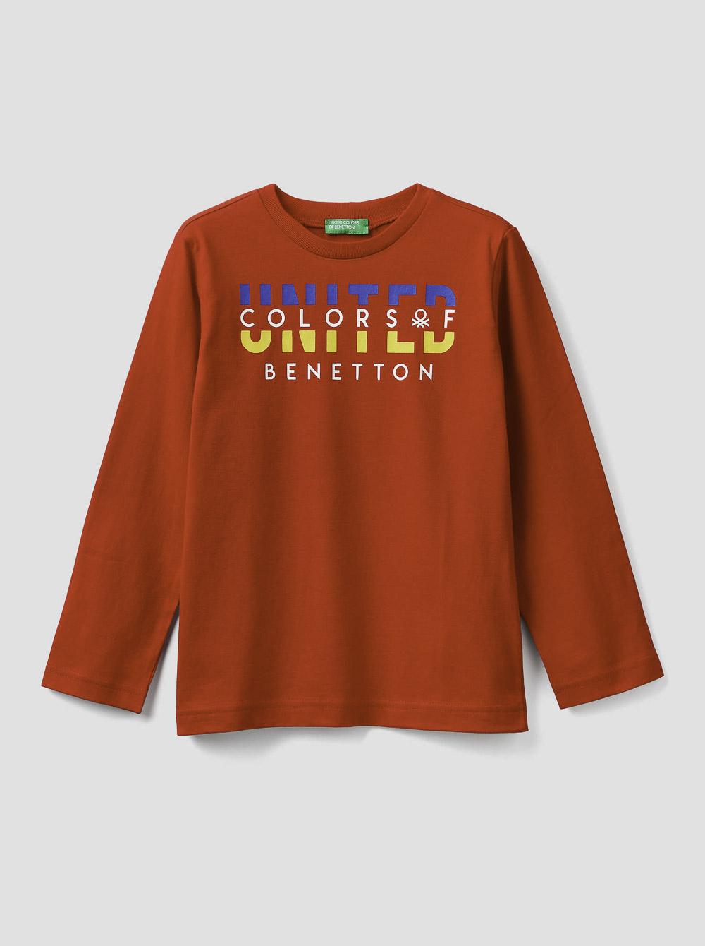 012 BENETTON Τ-shirt μακρυμάνικο με λογότυπο 3YR3C14QF 20A015