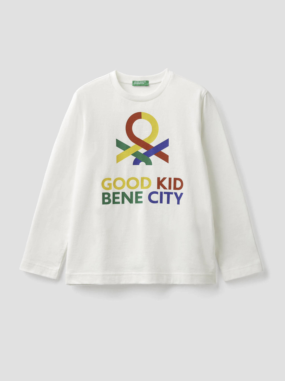 012 BENETTON Τ-shirt μακρυμάνικο με λογότυπο 3YR3C14QF 20A074