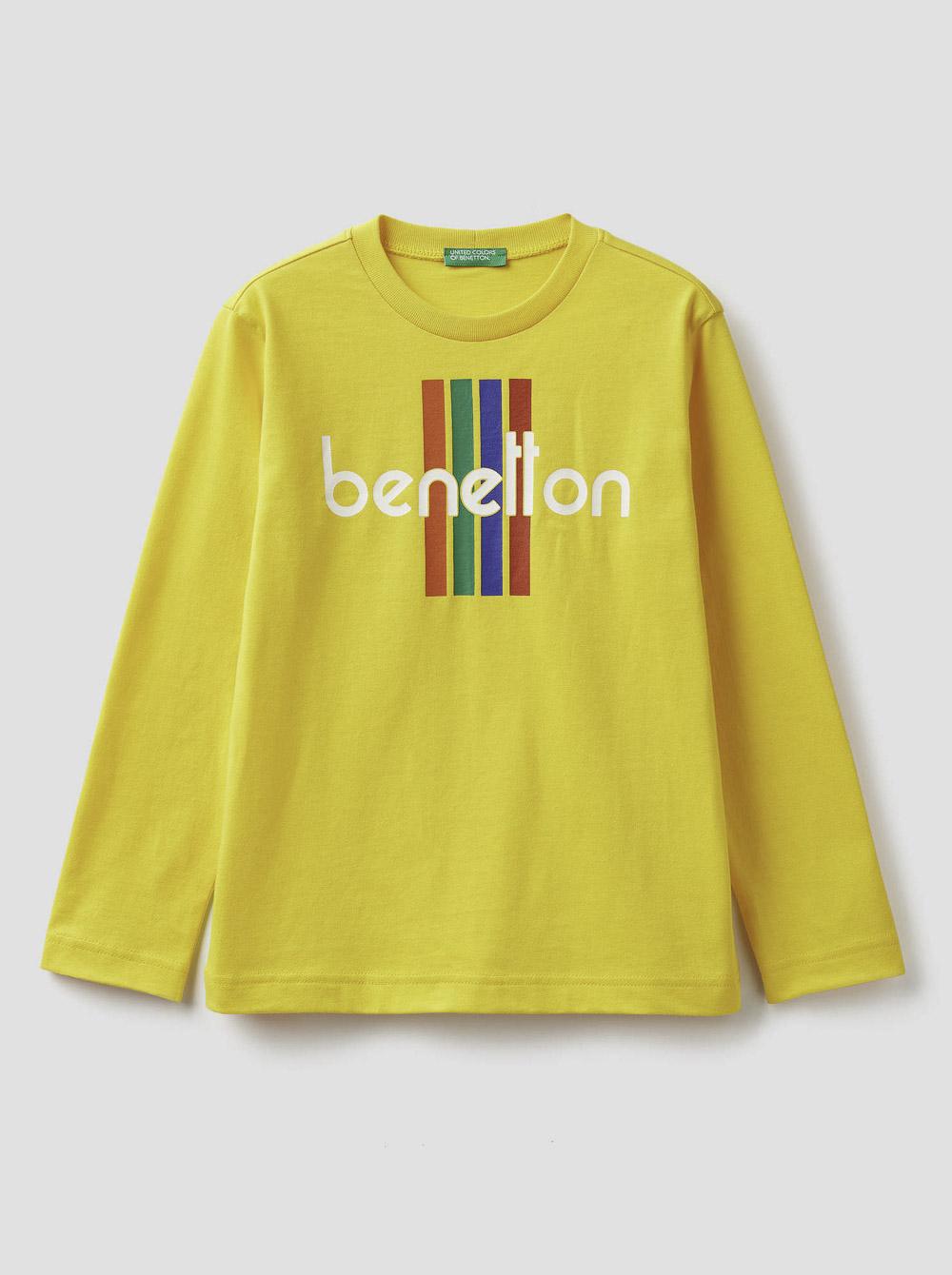 012 BENETTON Τ-shirt μακρυμάνικο με λογότυπο 3YR3C14QF 20A0T5