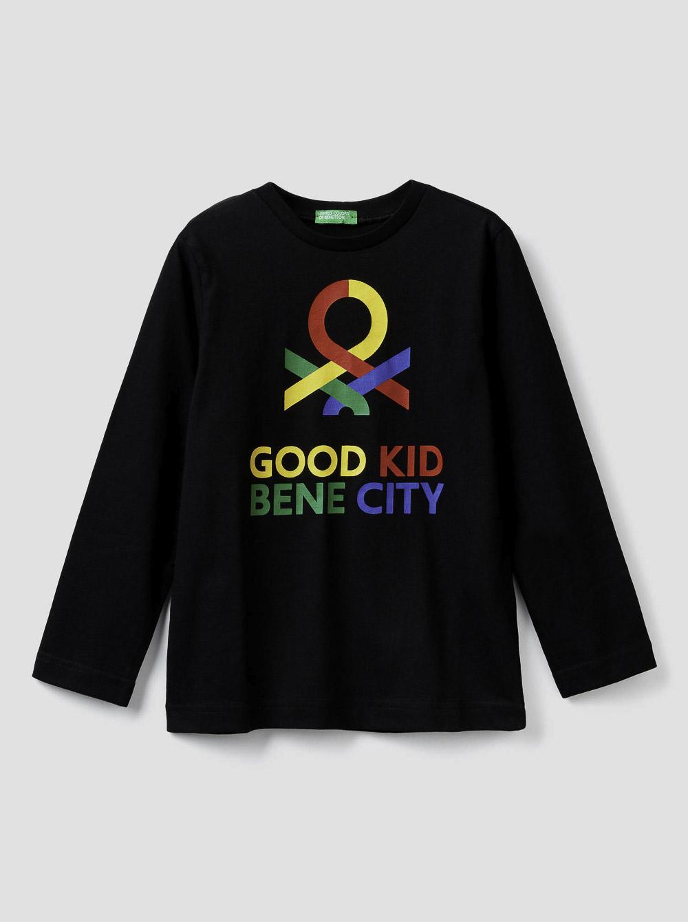 012 BENETTON Τ-shirt μακρυμάνικο με λογότυπο 3YR3C14QF 20A100
