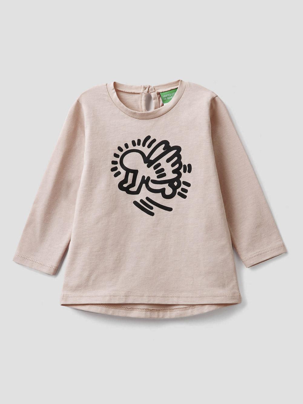 "012 BENETTON T-shirt με τύπωμα ""Keith Haring"" 3VR5C14U9 20A04U"