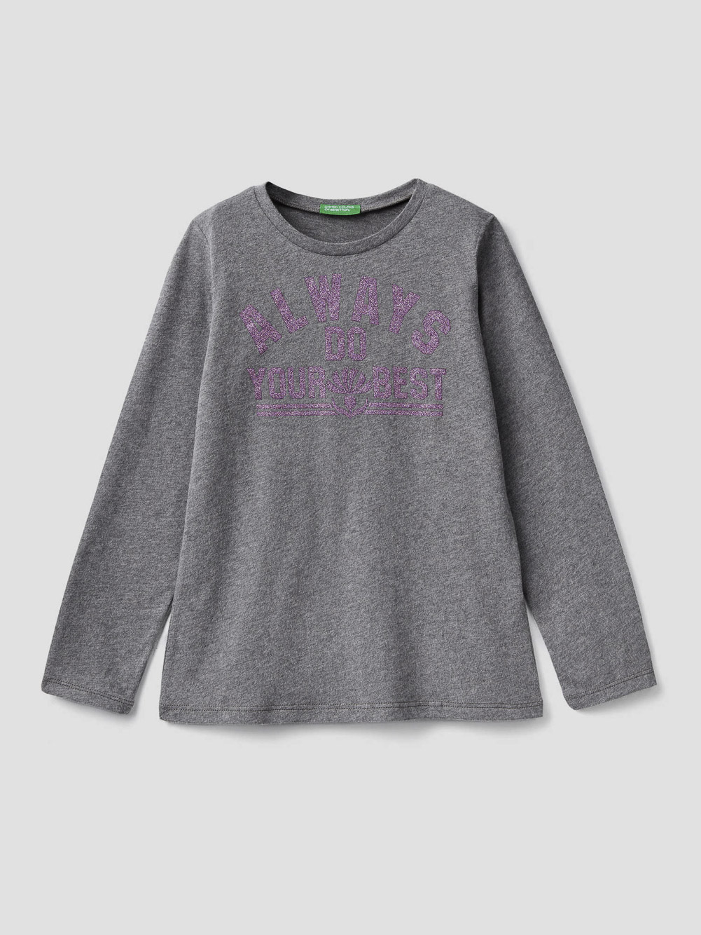 012 BENETTON T-shirt με glitter τύπωμα 3VR5C14Y4 20A507