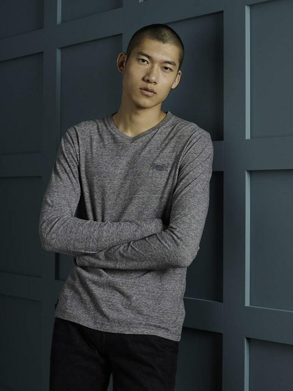 SUPERDRY Μπλούζα T-shirt M6010122A-4DS ΓΚΡΙ