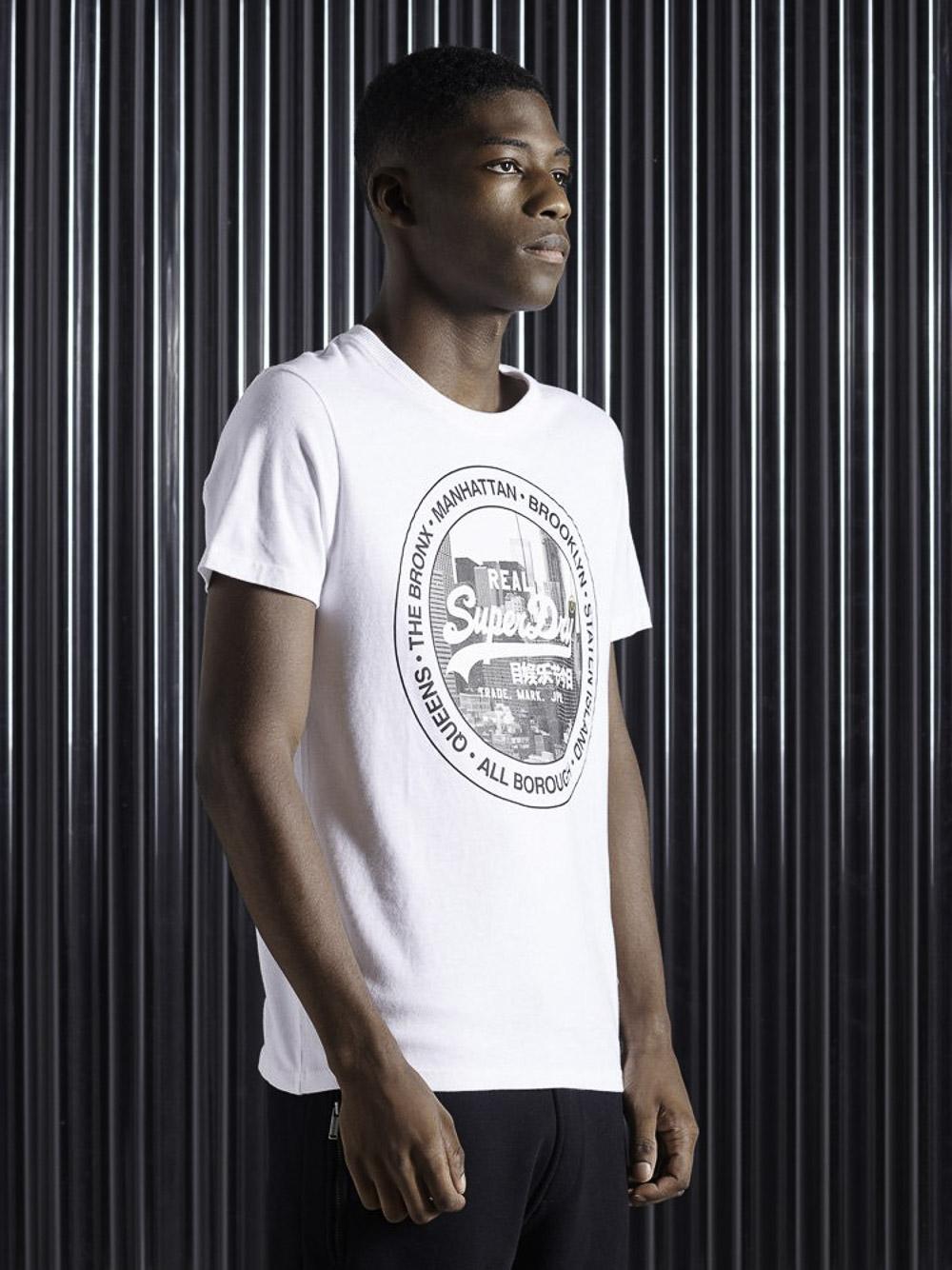SUPERDRY Μπλούζα T-shirt M1010347B-01C ΛΕΥΚΟ