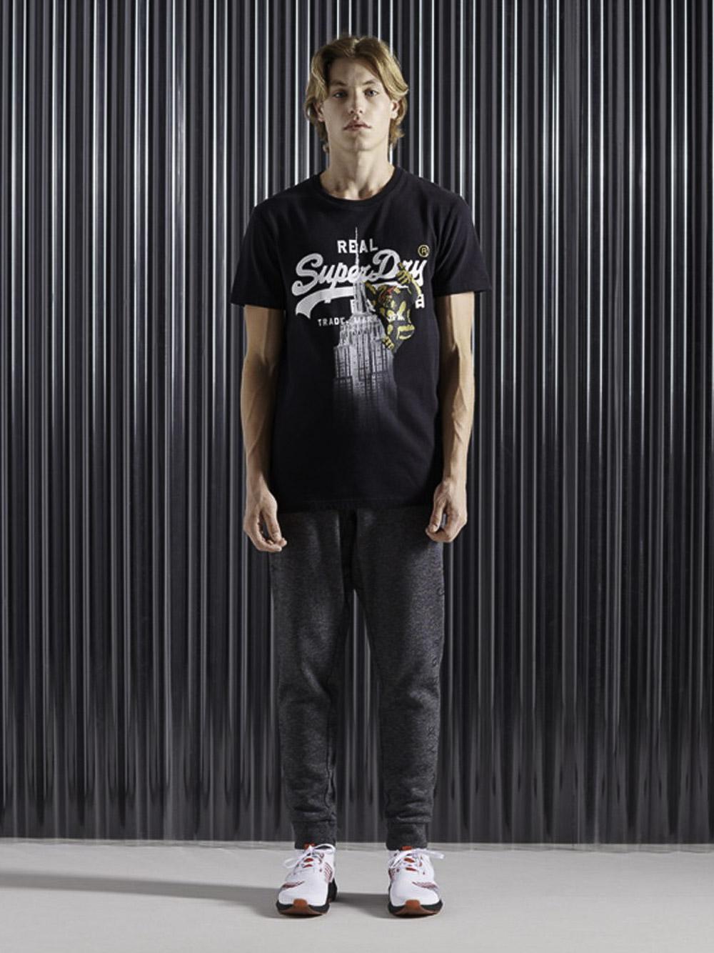 SUPERDRY Μπλούζα T-shirt M1010347B-02A ΜΑΥΡΟ