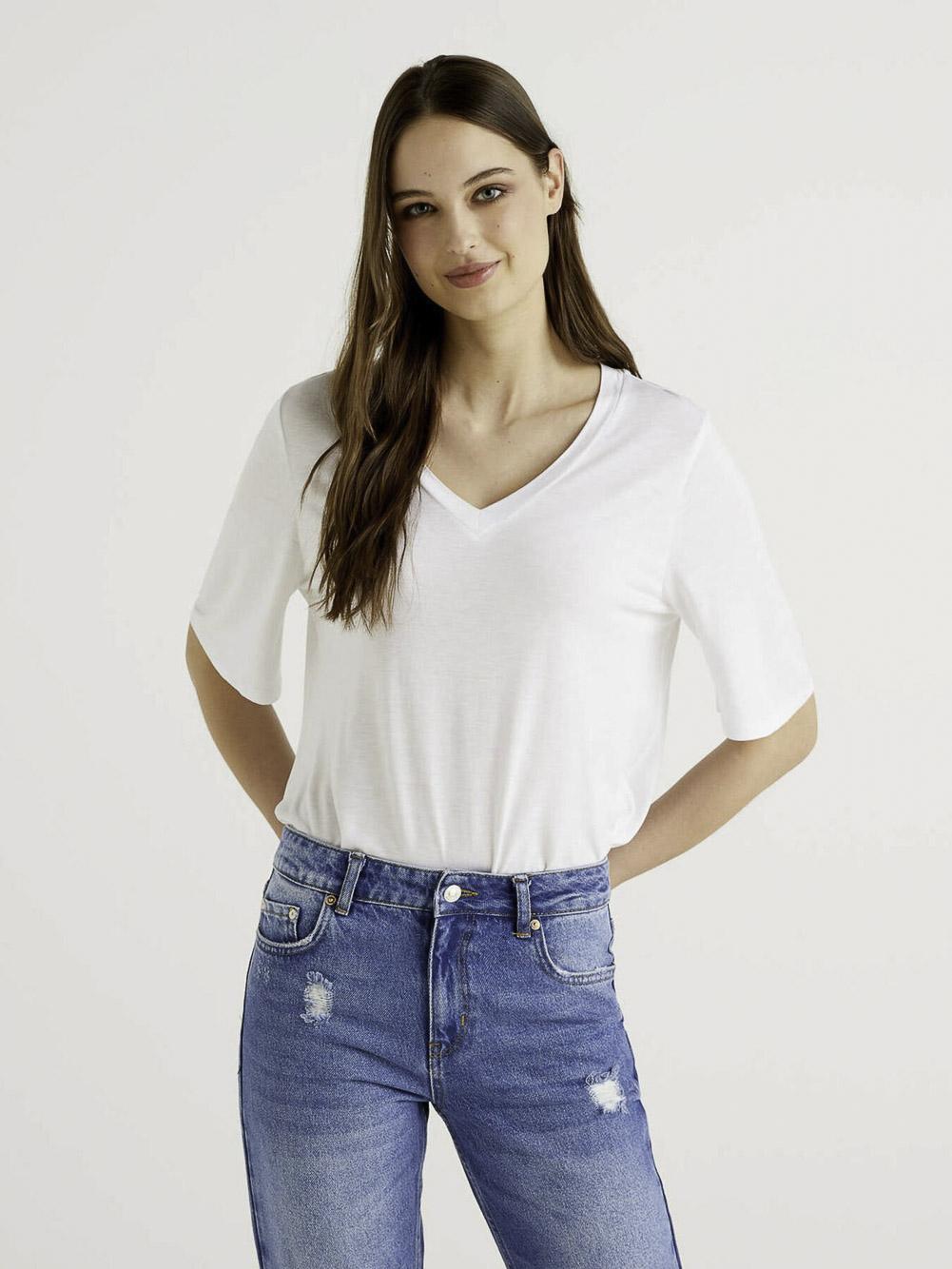 BENETTON Μπλούζα t-shirt 3I65E4269 21P101