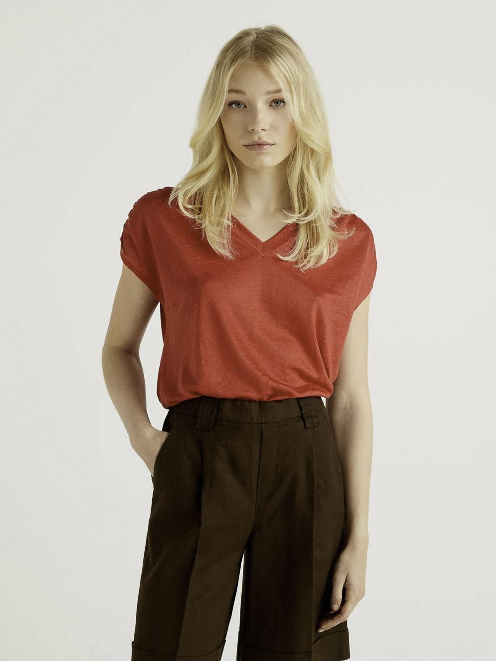 BENETTON Μπλούζα t-shirt 3S1ME4275 21E287