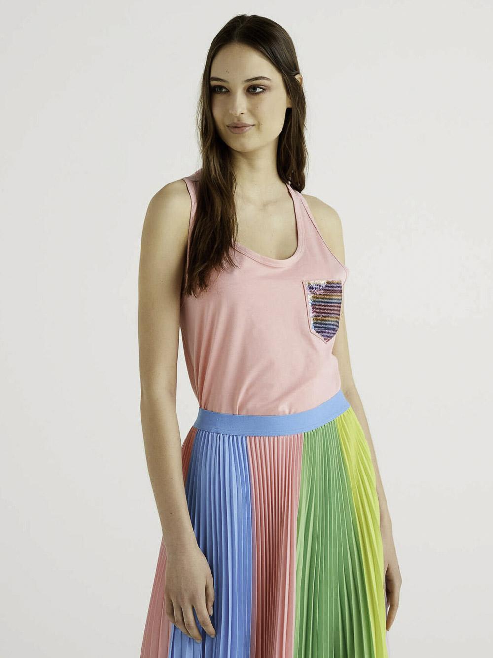 BENETTON Μπλούζα t-shirt 3V19E8431 21P03A