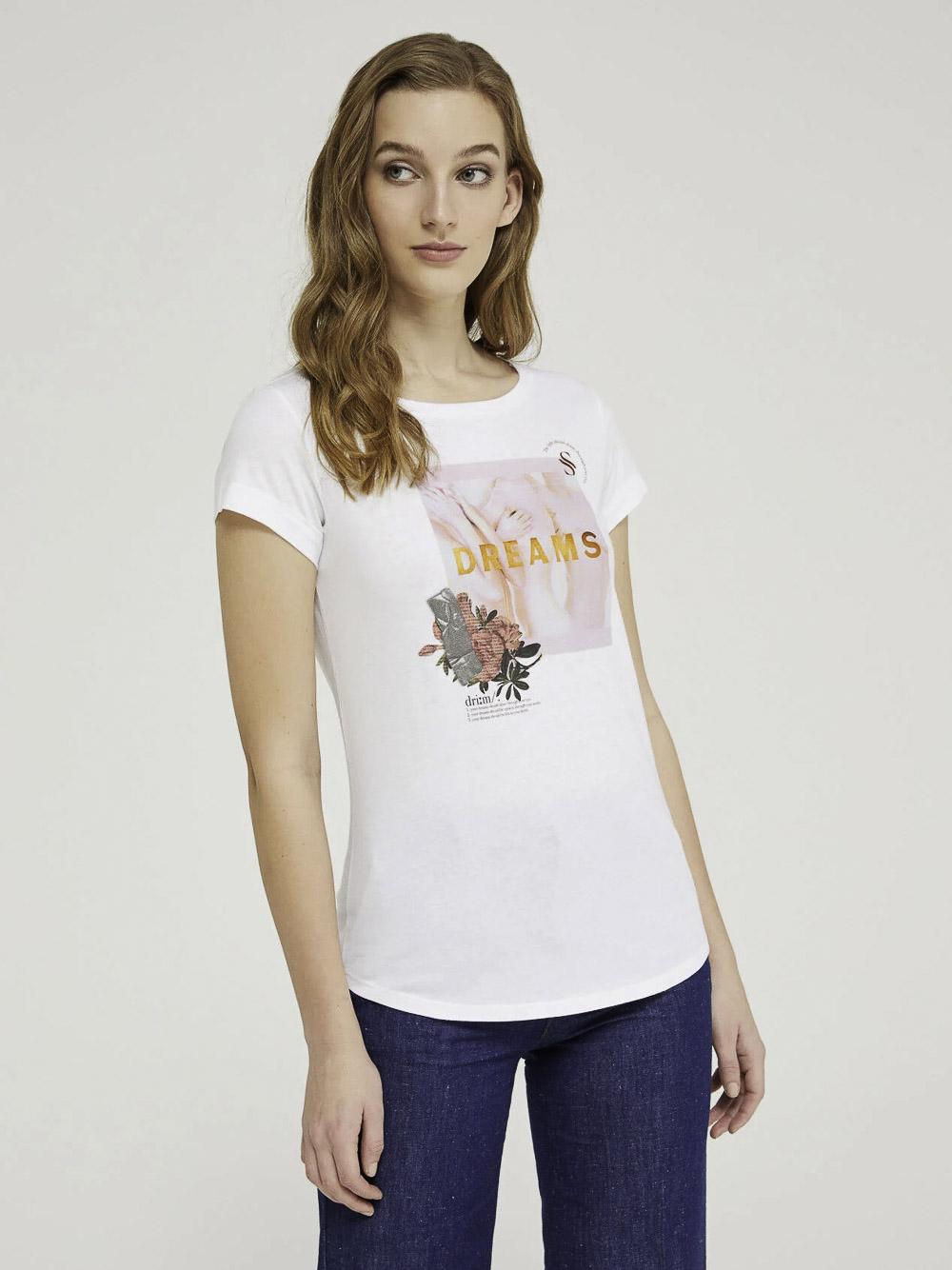 SISLEY Μπλούζα t-shirt 3L7NL12QS 21P921