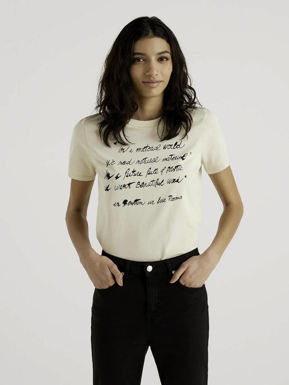 BENETTON Μπλούζα t-shirt 3MI5E1AA6 21P1K9