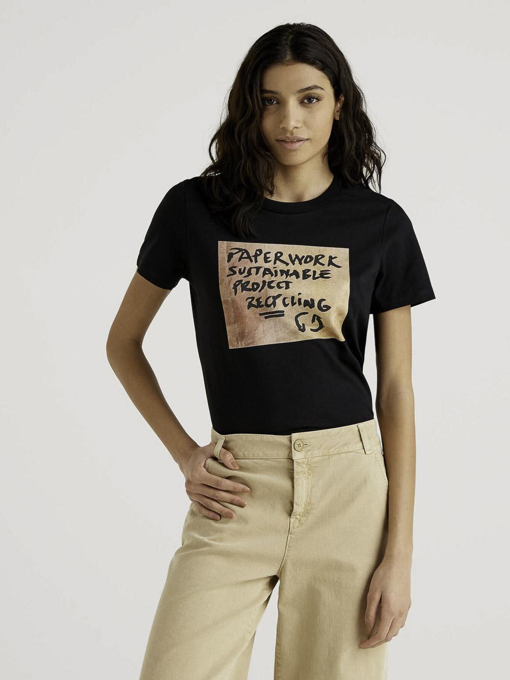 BENETTON Μπλούζα t-shirt 3MI5E1AA6 21P901