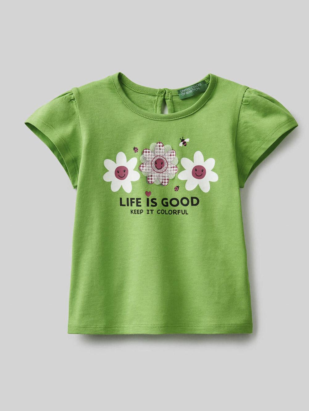 012 BENETTON Μπλούζα t-shirt 3096C15AH 21P06Z