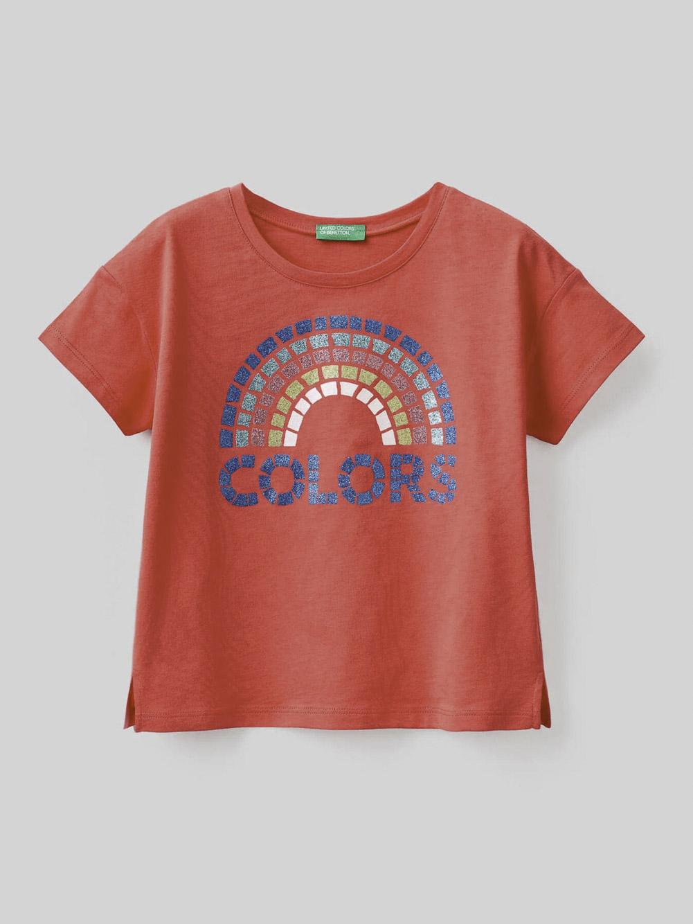012 BENETTON Μπλούζα t-shirt 3096C15A9 21P01L