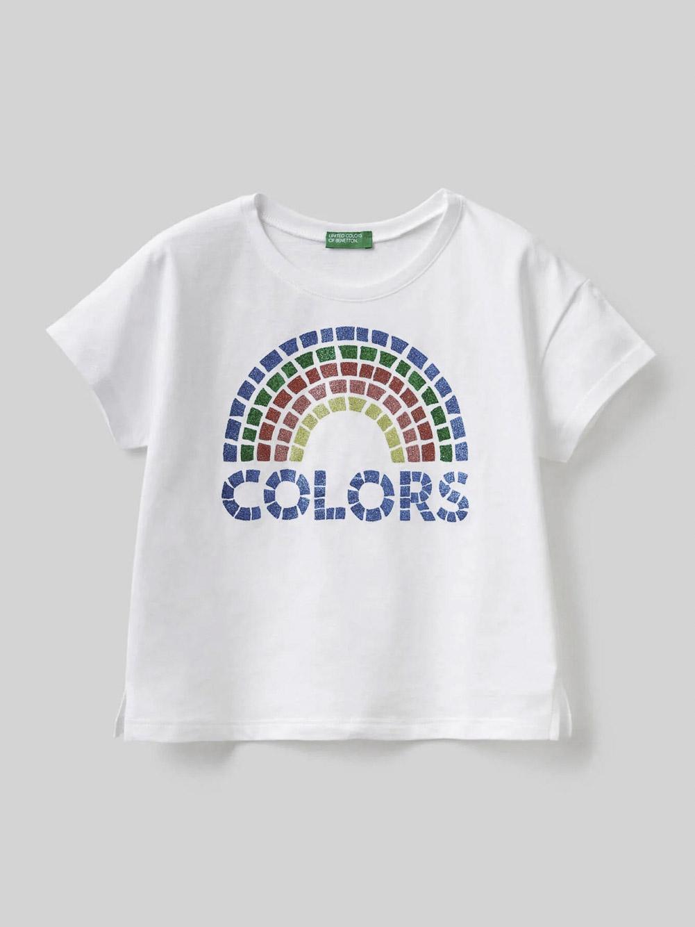 012 BENETTON Μπλούζα t-shirt 3096C15A9 21P101