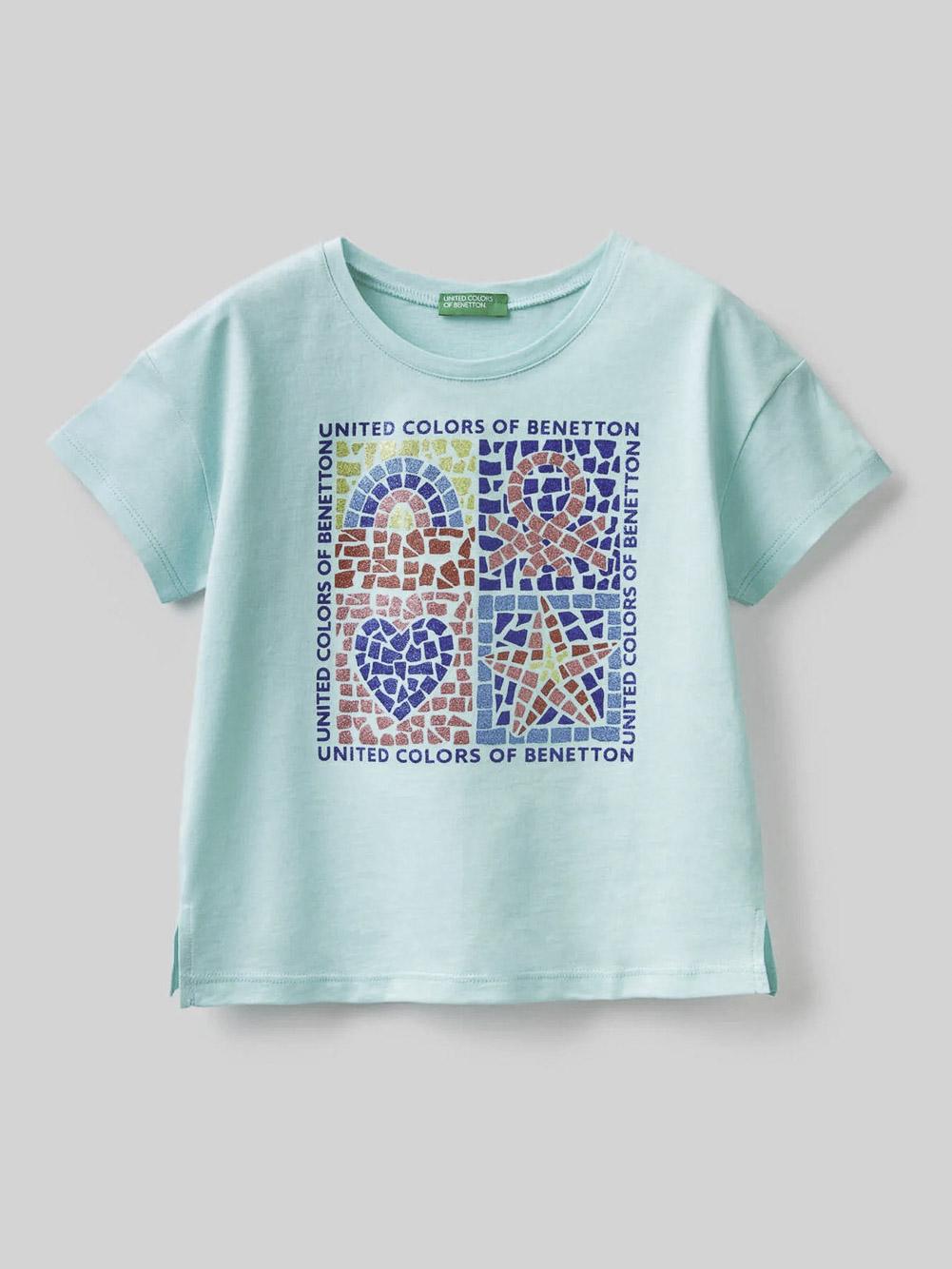 012 BENETTON Μπλούζα t-shirt 3096C15A9 21P27Q