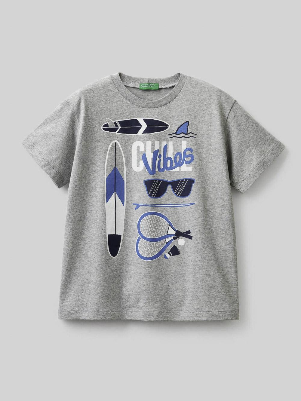 012 BENETTON Μπλούζα t-shirt 3096C15A3 21P501