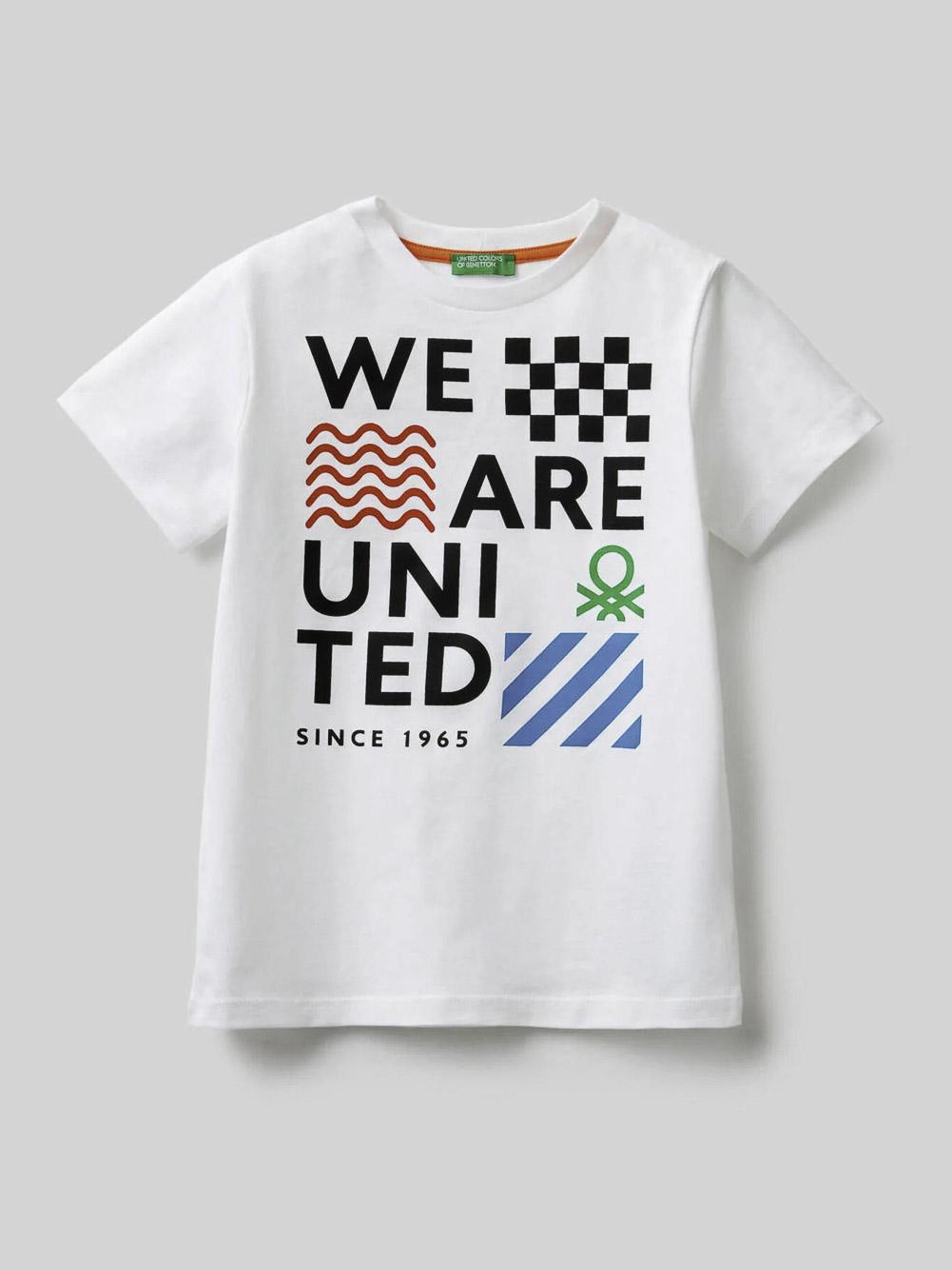 012 BENETTON Μπλούζα t-shirt 3096C158E 21P101