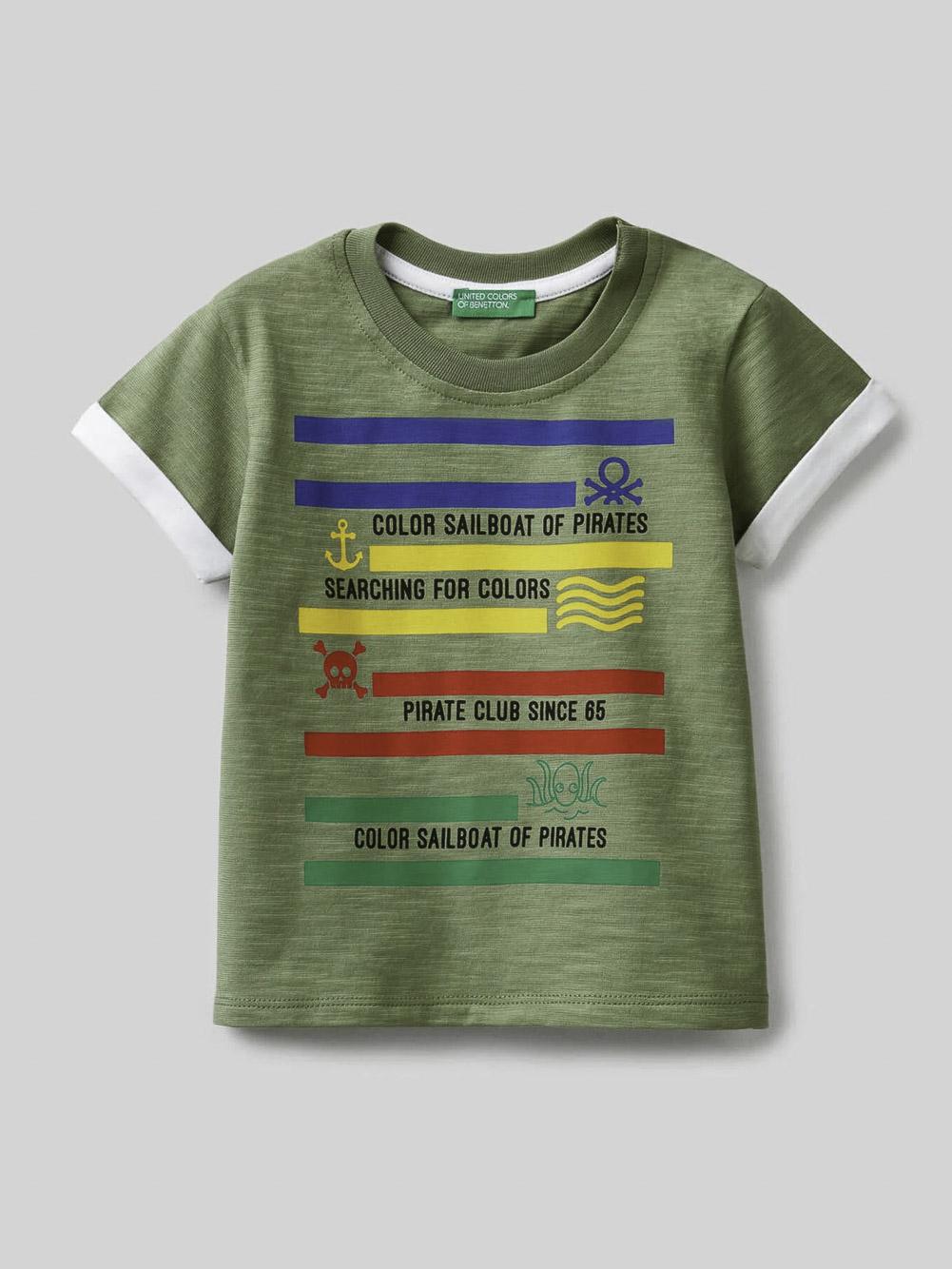 012 BENETTON Μπλούζα t-shirt 3BVXC15AQ 21P26K