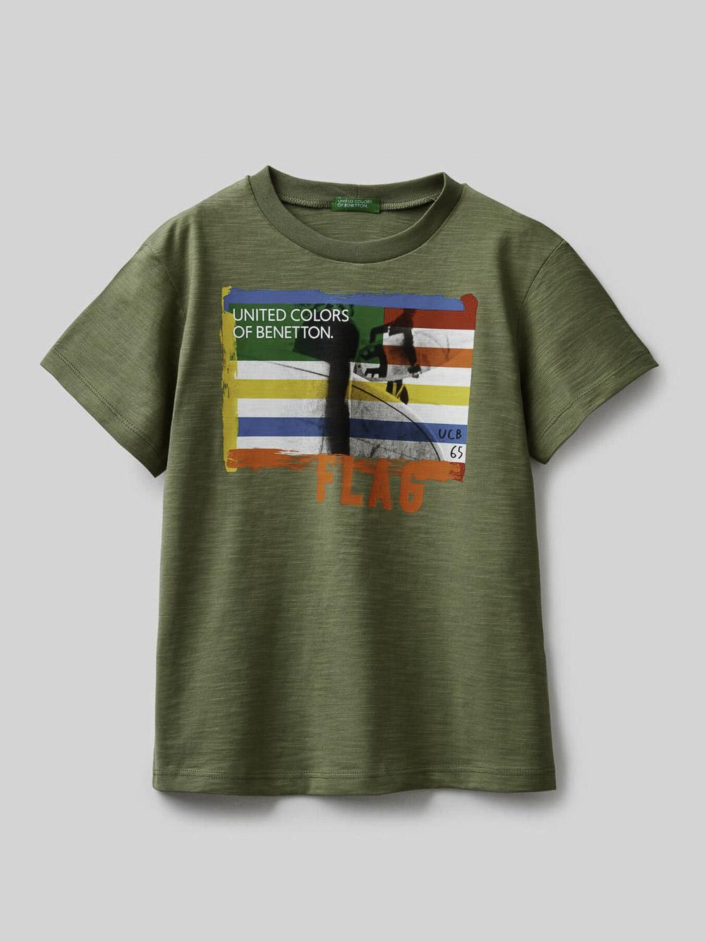012 BENETTON Μπλούζα t-shirt 3BVXC158H 21P26K