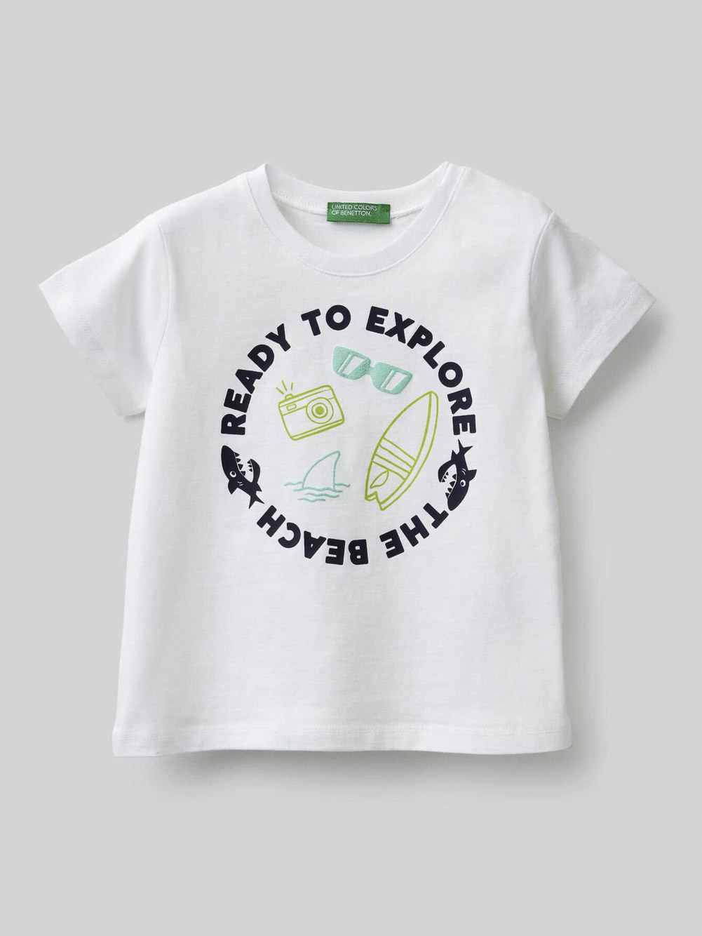 012 BENETTON Μπλούζα t-shirt 3096C15AY 21P101