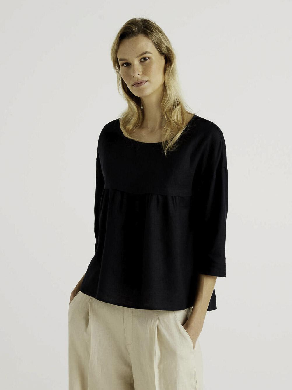BENETTON Μπλούζα t-shirt 5BML5QC24 21P100