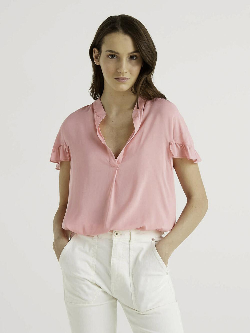 BENETTON Μπλούζα t-shirt 5SF05QCN3 21P03A