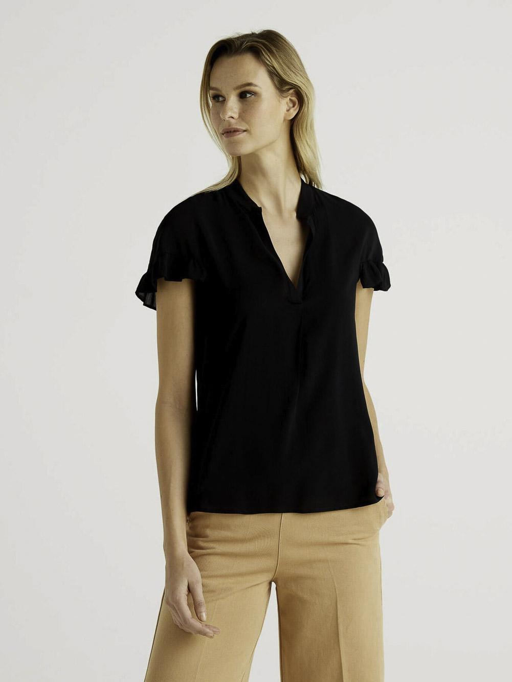 BENETTON Μπλούζα t-shirt 5SF05QCN3 21P100