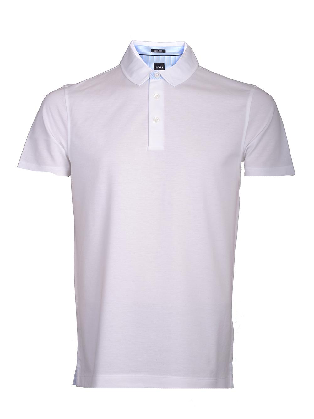 BOSS Μπλούζα Polo PRESS31 50383814 ΛΕΥΚΟ