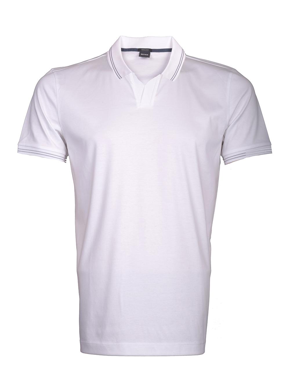 BOSS Μπλούζα Polo PARLAY30 50386213 ΛΕΥΚΟ