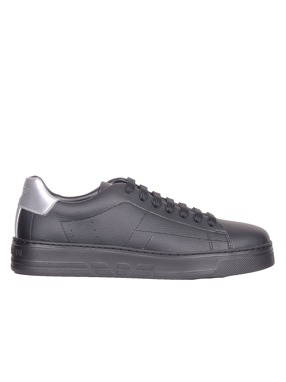 EMPORIO ARMANI Παπούτσια δετά X4X226 XL462 ΜΑΥΡΟ