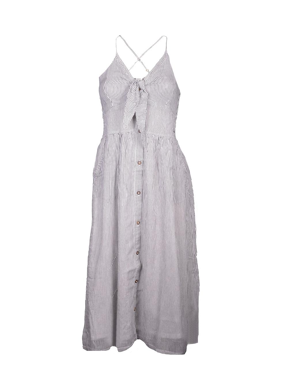 SUPERDRY Φόρεμα midi G801240T ΡΙΓΕ ΜΑΡΙΝΕ-ΛΕΥΚΟ