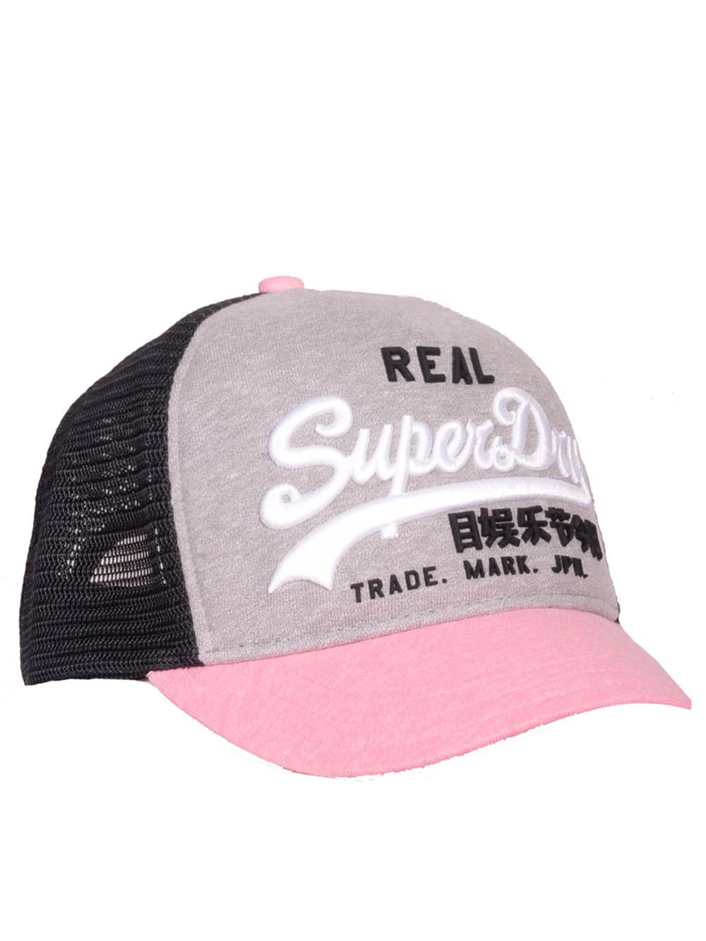 SUPERDRY Καπέλο jockey G90103MT ΓΚΡΙ