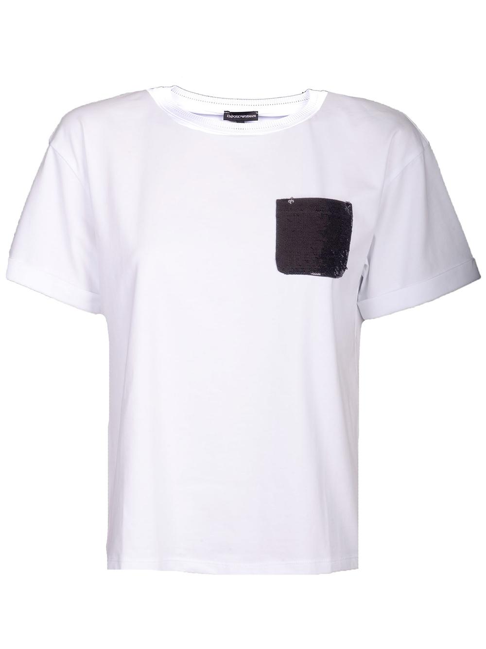 EMPORIO ARMANI Μπλούζα T-Shirt 3G2T84 2JQAZ ΛΕΥΚΟ