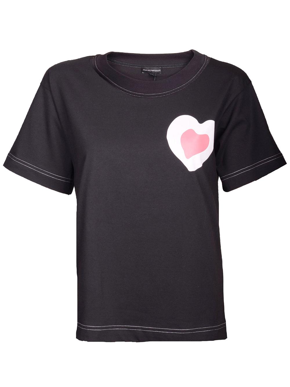 EMPORIO ARMANI Μπλούζα T-Shirt 3G2T72 2J28Z ΜΑΥΡΟ