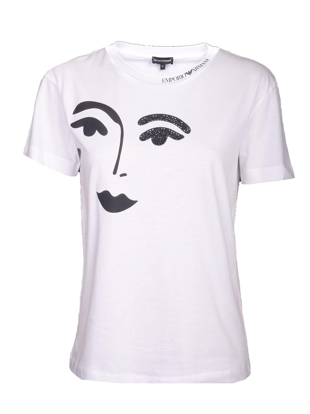 EMPORIO ARMANI Μπλούζα T-Shirt 3G2T63 2J29Z ΛΕΥΚΟ