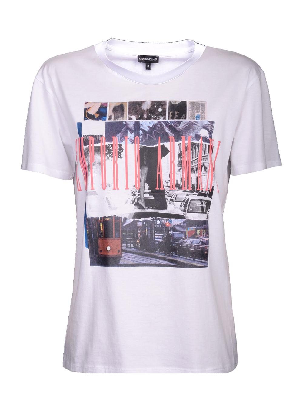 EMPORIO ARMANI Μπλούζα T-Shirt 3G2T87 2JSYZ ΛΕΥΚΟ